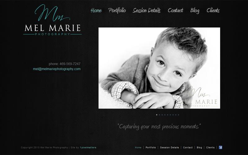Web Design Case Study: Mel Marie Photography1PixelMatters ...